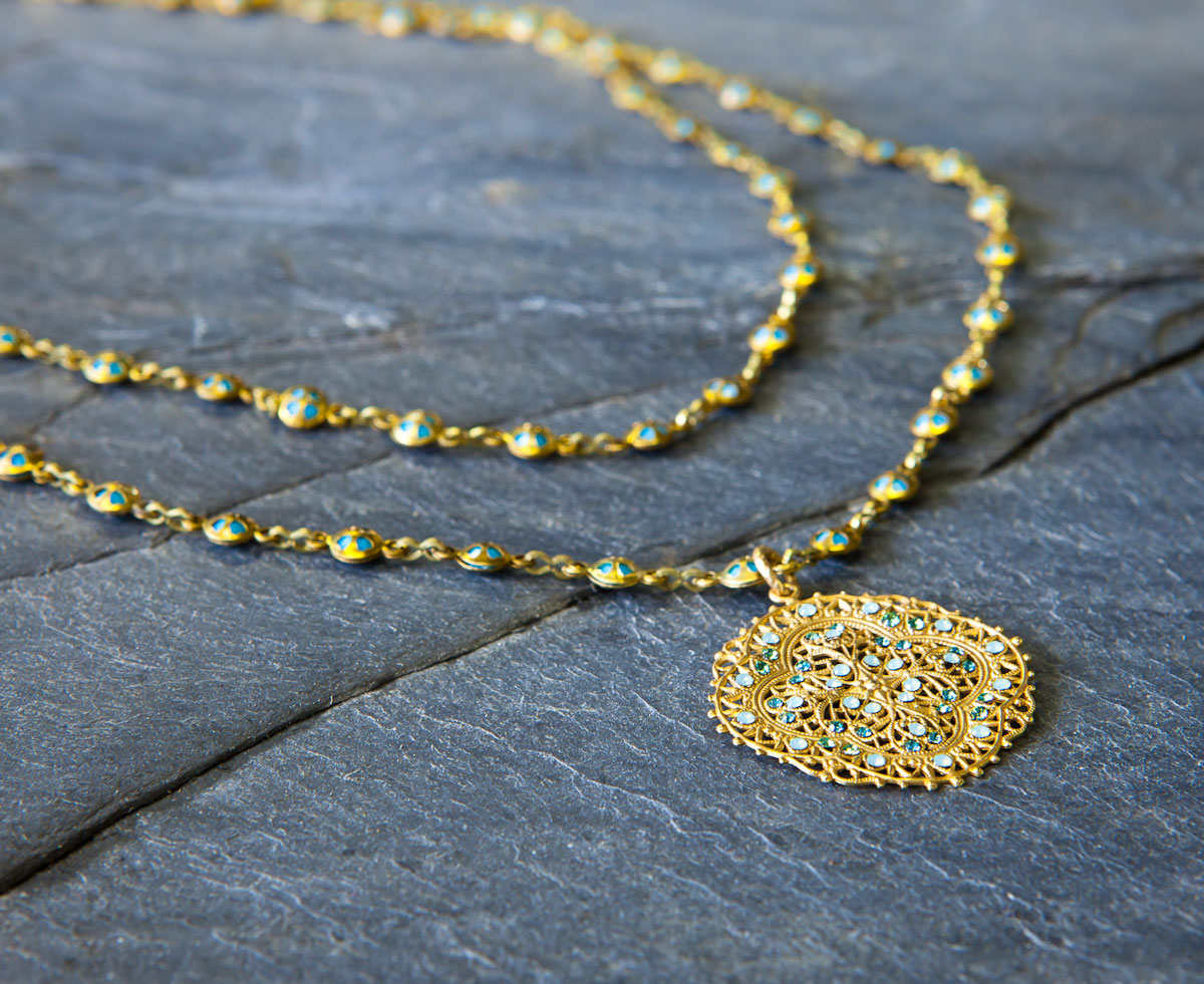 Ornate Yellow Necklace